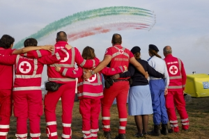 La Croce Rossa di Milano all'Air Show di Linate